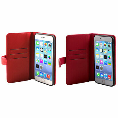Cell Phone Faux Leather Zippered Wallet Pouch Magnetic Case For Iphone 7 Plus • 16.49£