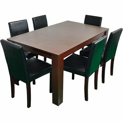 5 Piece Dining Kitchen Table Chairs Set Rectangular Breakfast Wood Furniture • 238.99$