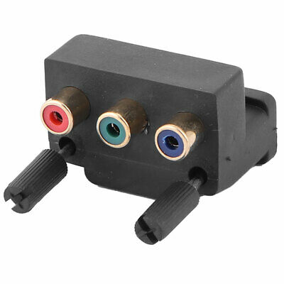 £4.39 • Buy Audio Video DVI 24+5 Pin To 3 RCA Adapter Projector Connector