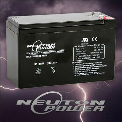 AU24.99 • Buy Neuton Power 12V 7Ah SLA AGM Battery For NBN Security Alarm Eaton ToyCar Scooter