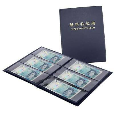 £10.59 • Buy 60 Pockets Soft Leather Notes Album Banknote Paper Money Collection Stamps Book