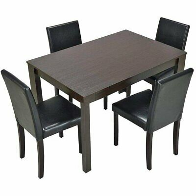 3 5 Piece Dining Set Table And Chairs Kitchen Modern Furniture Bistro Wood New • 238.99$