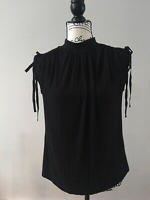 $ CDN45.64 • Buy NWT Anthropologie Kali Ruched Top Black Extra Small XS
