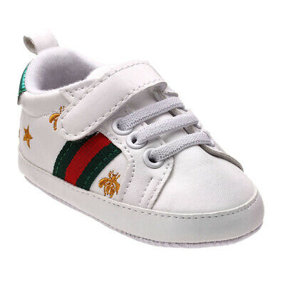 £3.53 • Buy Newborn Baby Crib Shoes Faux Leather Infant Toddler Boy Girl Pre Walker Sneakers
