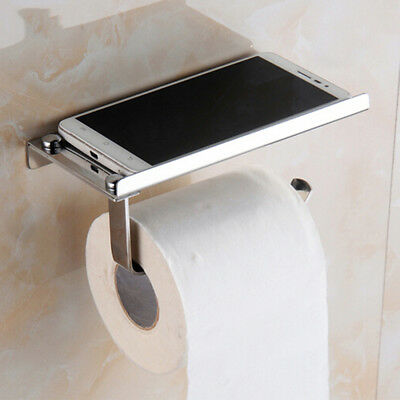 AU11.23 • Buy 304 Stainless Steel Bathroom Toilet Paper Twin Holder Phone Tissue Roll