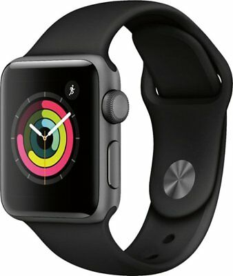 $ CDN387.78 • Buy Apple Watch Series 3 - 38mm (Gray) Black Band (GPS + Cellular) *New In Box*