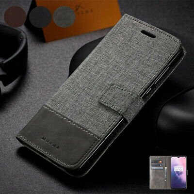 AU17.99 • Buy For OnePlus 7T Pro 7 Pro 6T 6 5T 5 3T 3 Luxury Canvas Leather Wallet Case Cover