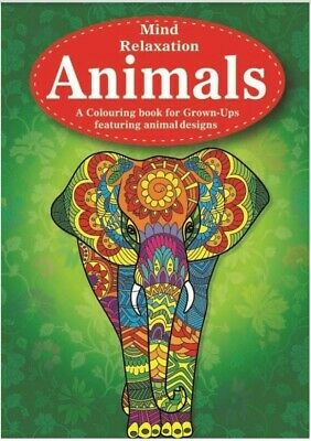 MIND RELAXING COLOURING BOOK Adult Stress Relief Colour Therapy A4 ANIMALS Birds • 4.29£