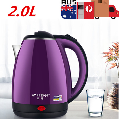 AU29.69 • Buy 2L Stainless Steel Kettle Electric Home Kitchen Water Jug Pot Fast Boiler 220V