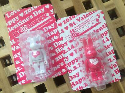 $119.99 • Buy BE@RBRICK & R@BBRICK 100% Valentine 2016 Set Lot Of 2 Rare Medicom Bearbrick