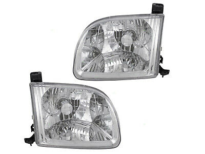 $92.15 • Buy For Headlight 00 01 02 03 04 Tundra Access Cab Passenger Right + Driver Left