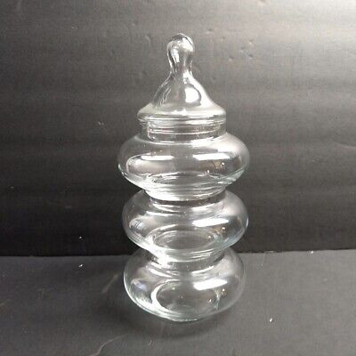 Clear Glass Apothecary Jar Tiered Wedding Decor Candy Holiday Buffet  • 16.31£