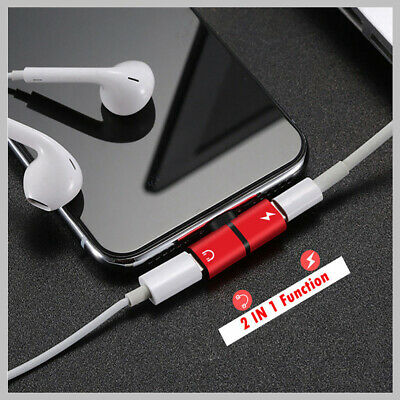 AU4.88 • Buy Dual Lightning Audio Headphone Adapter Charger Splitter For IPhone 7 8 Plus X XS