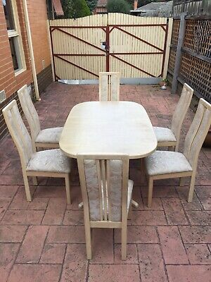 AU150 • Buy 6 Seater Dining Table Lime Wood