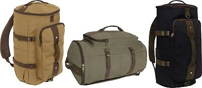 $24.99 • Buy Cotton Canvas Convertible Duffle Carry Weekender Travel Bag & Backpack