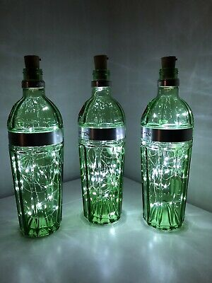 Tanqueray No 10 3 X 700ml  Bottle Lamp 30 LED Lights Upcycled Quirky Gift  • 25£