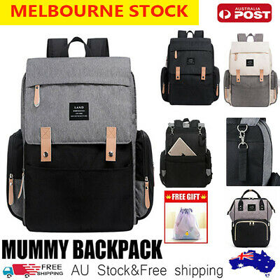 AU29.89 • Buy LAND Mummy Maternity Nappy Diaper Bag Capacity Baby Bag Travel Backpack Waterpro