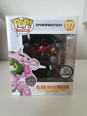 AU29.90 • Buy Overwatch Funko Pop! Vinyl D.va (Carbon Fibre) 400 Mint Never Removed From Box