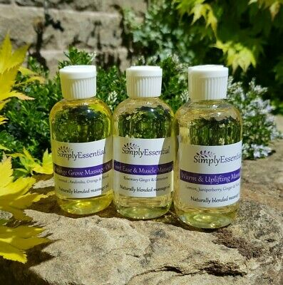 100ml Massage Oil - Choose Your Aromatherapy Natural Essential Oil Blend • 7.90£