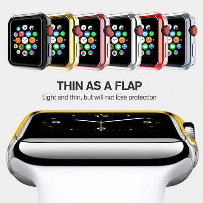 $ CDN1.30 • Buy For Apple Watch Series 5/4/3/2/1 Bumper Soft TPU Frame Case Cover 38/42/40/44mm