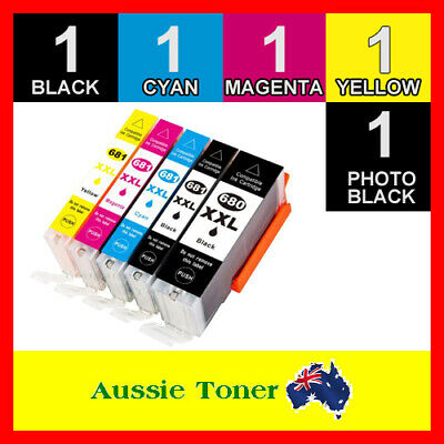 AU33.70 • Buy 5x Ink Cartridges PGI680XXL CLI681XXL For Canon TS6360 TS6365 TS9560 TS9565