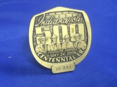 $24.99 • Buy Indianapolis Indy 500 2009 BRONZE PIT BADGE Centennial Era Art FOUNDING FATHERS