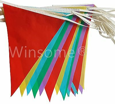£1.99 • Buy 33 Feet 20 Flags Multi Colour Banner Bunting Party Event Home Garden Decoration