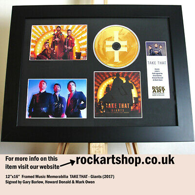 Take That SIGNED BY GARY BARLOW +HOWARD DONALD +MARK OWEN Autographed Wonderland • 209.98£