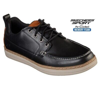 Sketchers Mens Boots Leather Casual Sports Trainers Memory Foam Deck Shoes Size • 44.95£