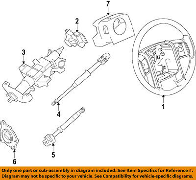 $440.51 • Buy FORD OEM 07-10 F-350 Super Duty-Steering Column 9C3Z3C529E
