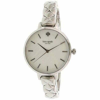 $ CDN102.21 • Buy Kate Spade Women's Metro KSW1465 Silver Stainless-Steel Quartz Dress Watch