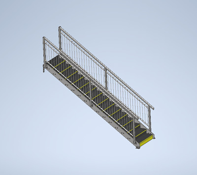 Bespoke Metal Staircase, Mezzanine Stairs, Fire Escape Stairs, Steel Stairs • 100£
