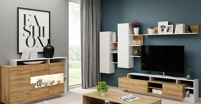Living Room Furniture Set Tv Unit Display Stand Wall Mounted Cupboard Cabinet • 425£