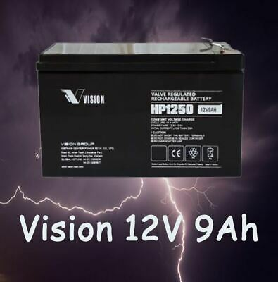 AU42.99 • Buy Vision HP12-50W 12V 9Ah SLA VRLA High Rate Battery For UPS NBN Alarm System