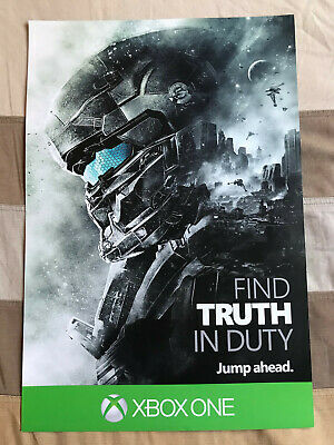 £13.16 • Buy Halo Guardians Locke Official Promotional Poster Microsoft XBOX 2015 Event