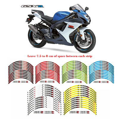$16.46 • Buy Motorcycle Rim Stripes Wheel Decals Tape Stickers For SUZUKI GSXR 600/750/1000