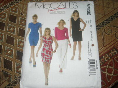 🌸 McCALL'S #M6282 - LADIES DRESS Or TOP W/HIGH Or LOW COWL NECK PATTERN 8-22 FF • 7.23£