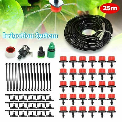 25M Automatic Drip Irrigation System Kit Plant +Timer Self Watering Garden Hose • 10.99£