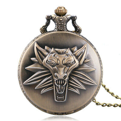 $4.69 • Buy Antique Pocket Watch Majesty Lion Head Roaring Long Necklace Chain Men Xmas Gift