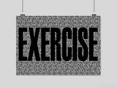 Gym Bodybuilding Exercise In Letters Poster Motivation Fitness Art A3 A4 Size • 6.95£