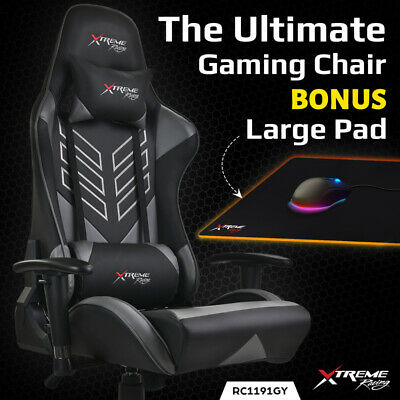 AU189 • Buy Xtreme Gaming Racing Office Chair PU Leather Computer Executive Ergonomic Seat D