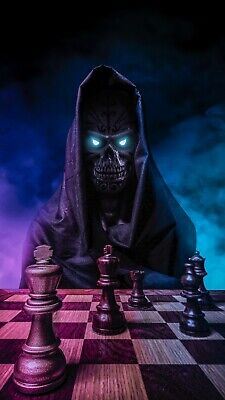 £11.99 • Buy Death Grim Reaper - Game Of Chess Wall Art Decor Large Poster & Canvas Pictures