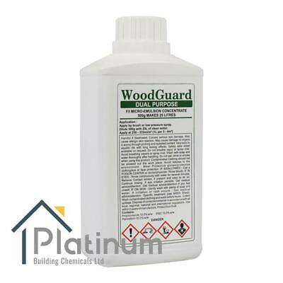 WOODGUARD DUAL Woodworm & Dry Rot Treatment - (Makes 25L)   Wood Preserver Spray • 29.50£