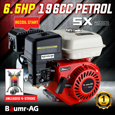AU199 • Buy 【EXTRA15%OFF】6.5HP Petrol Stationary Engine Motor 4-Stroke OHV Horizontal