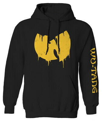 £42.49 • Buy Wu-Tang Clan 'Sliding Logo' (Black) Pull Over Hoodie - NEW & OFFICIAL!