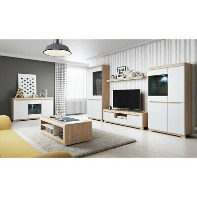 Living Room Furniture Set Tv Unit Display Stand Wall Mounted Cupboard Cabinet • 80£