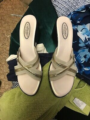 $16 • Buy REDUCED! Callisto Women's Platform Slide Sandals Lt Bronze Size 10 M
