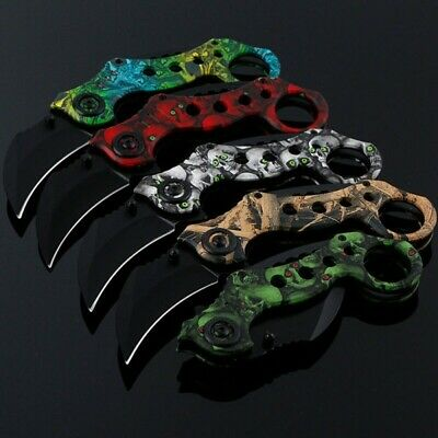 AU16.99 • Buy Karambit Claw Folding Knife Outdoor Tool Survival Fishing Hunting Camping Knives