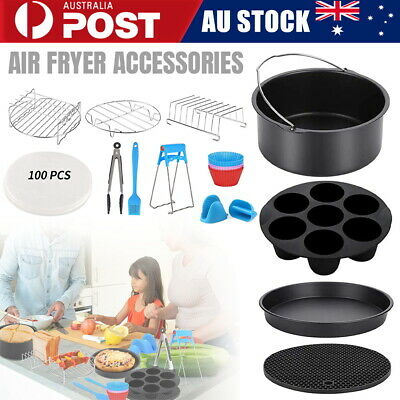 AU25.55 • Buy 120 PCS 8  Air Fryer Accessories Rack Cake Pizza Oven Barbecue FryingPan Tray AU