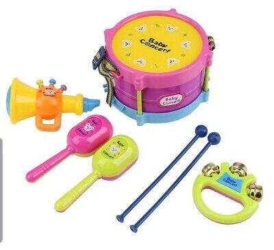 New Kids Mini Band Musical Instruments Educational Toy Set Drum Bell Trumpet  • 15.99£